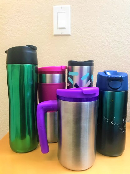 Stainless Steel Water and Travel Bottles , Coffee Tumblers