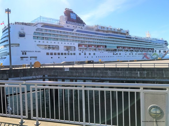 Norwegian Pearl Cruise departing from the Pier. Seattle Downtown