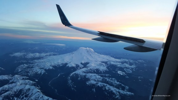 Enchanting view of Mount Rainier from AirPlane Window