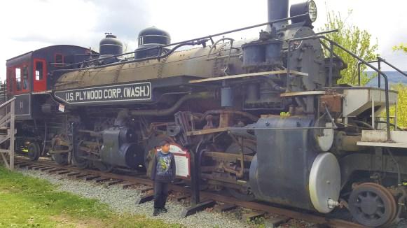 Northwest Railway Museum, Snoqualmie near Seattle, Ride in Antique train at Snoqualmie Rail road.