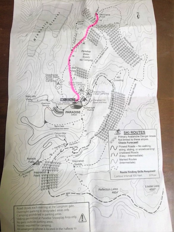 Map of Panorama Point trail for hiking