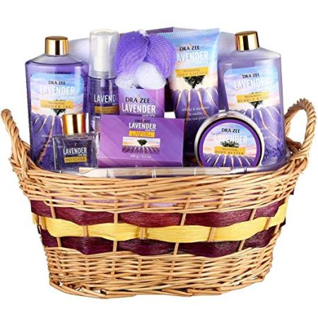 "Experience the ""Complete Spa at Home "" with 10 Piece Gift Basket for Women by Draizee – #1 Best Gift for Mother's Day - Skin Care Set with Lotions, Creams, Bath Bombs & More"