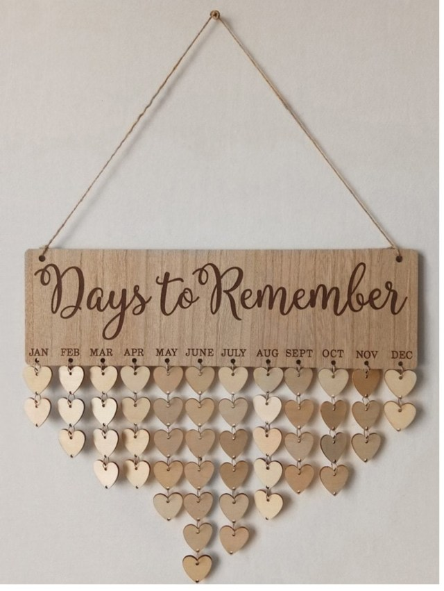 Mother's Day unique Gift ideas - Days to Remember wall piece