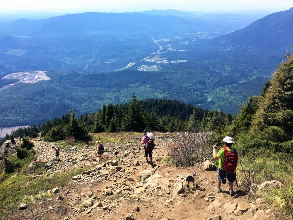 Steep hill descend at Mailbox peak