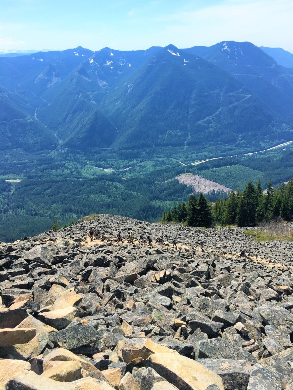 Boulder Field and view of Snoqualmie Valley