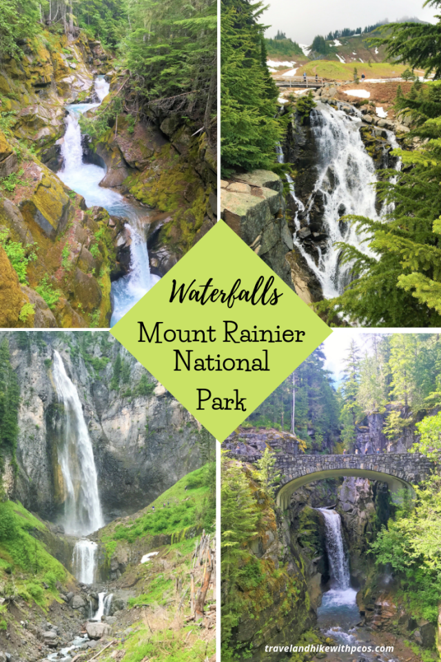 Waterfalls at Mount Rainier National Park