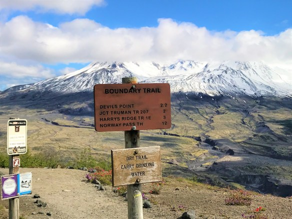 Boundary Trail Sign Board at Mount ST Helens