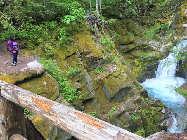 Wooden Bridge over Van Trump Creek