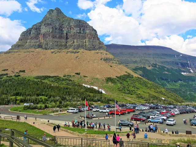 Logan Pass Visitor Center Parking Lot  Glacier National Park