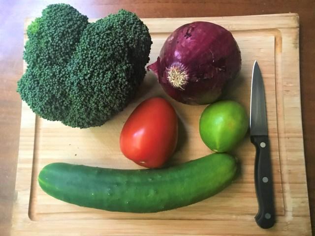 Raw Veggies for Chickpea Salad