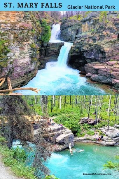 St Mary Falls Glacier National Park
