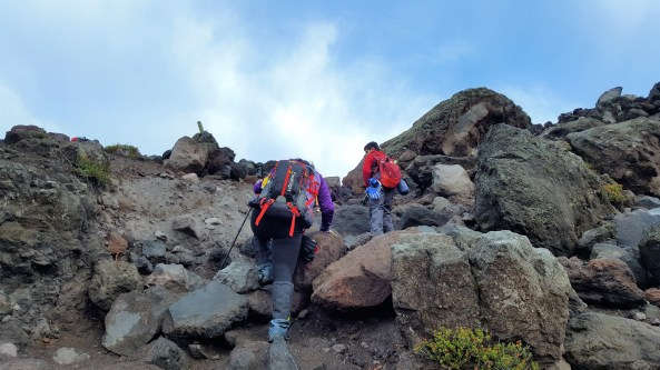 Boulder Field in Mount St. Helens Summit Climb
