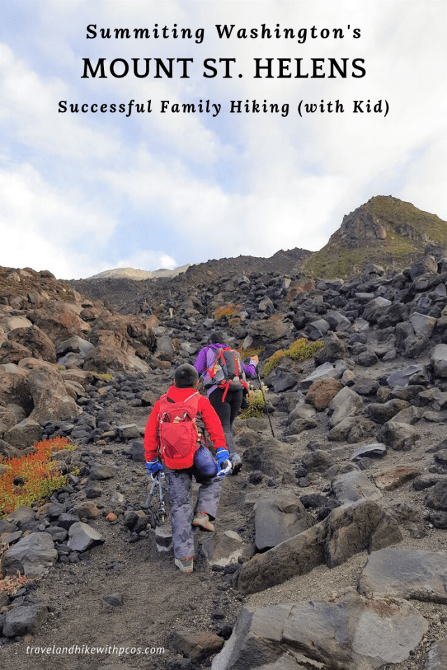 Mount St. Helens Summit Family Hiking with Kid