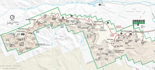 Bryce Canyon National Park Map.Things to Do In Bryce Canyon National Park
