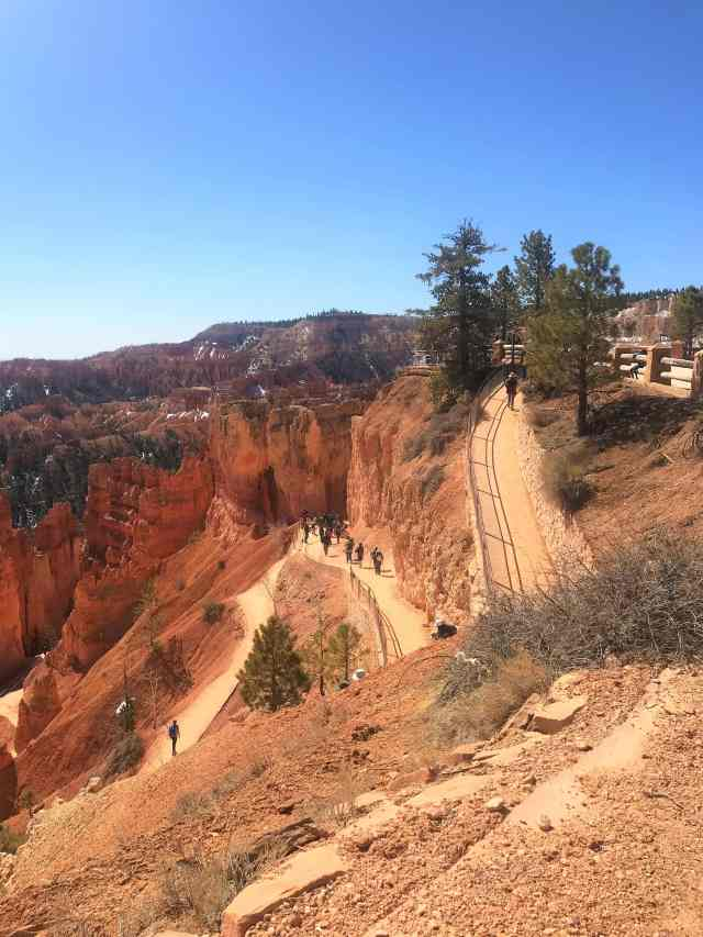 View of Hoodoos from Rim Trail. Things To Do In Bryce Canyon National Park