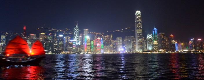 Spettacolo luci hong kong