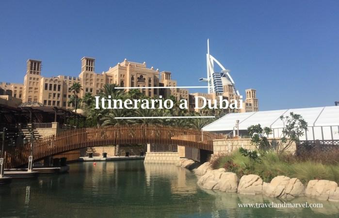 itinerario a Dubai