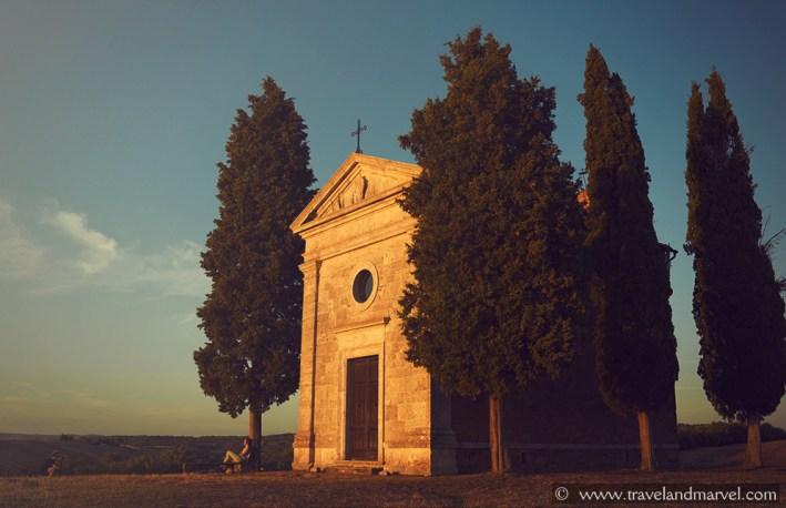 Val d'Orcia Chiesa Madonna Vitaleta