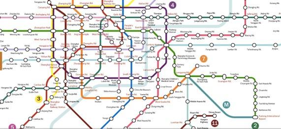 Mappa metro Shanghai