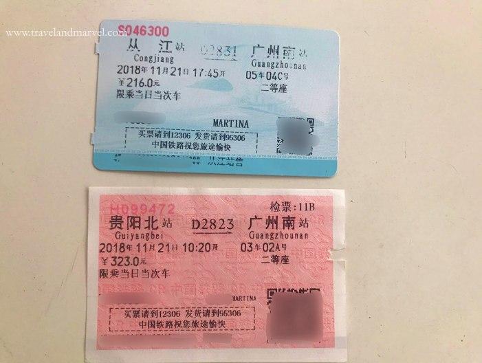 biglietti dei treni in Cina