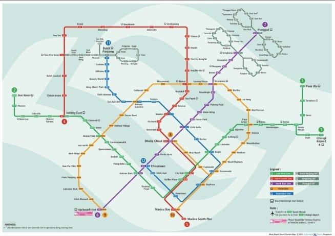 mappa metro singapore