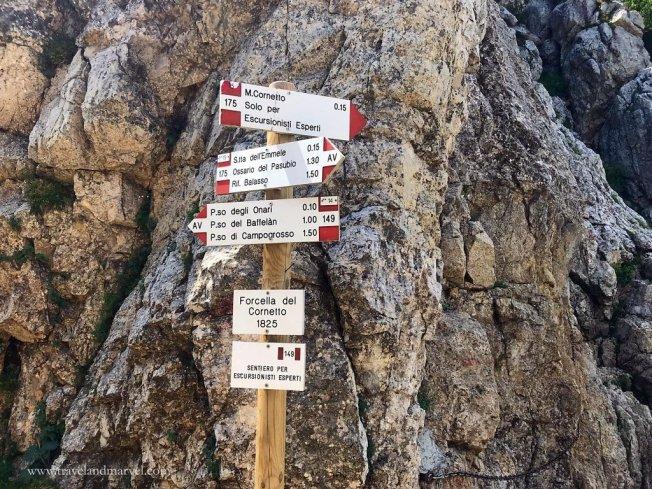 Escursione Cornetto tratto attrezzato