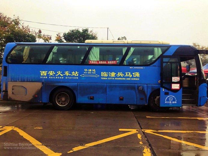 autobus stazione treni esercito di terracotta