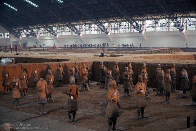 Xian visita all'Esercito di Terracotta