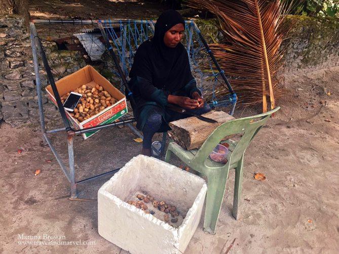 Isola di pescatori Maldive