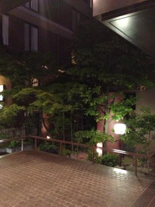 Outside hotel's main entrance