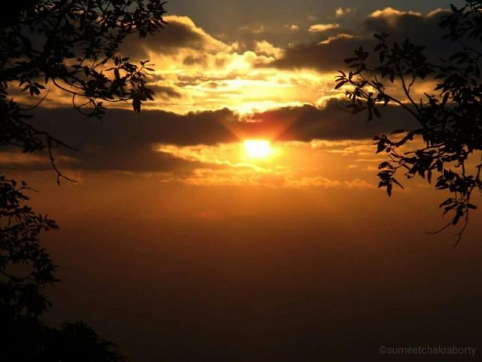 Sunset captured from Binsar, Uttarakhand