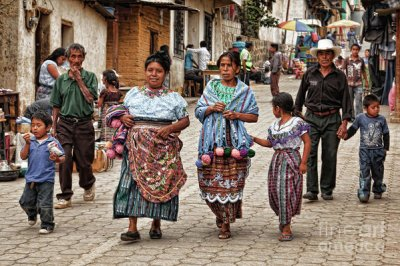 Travel Art: Sunday Morning In Guatemala