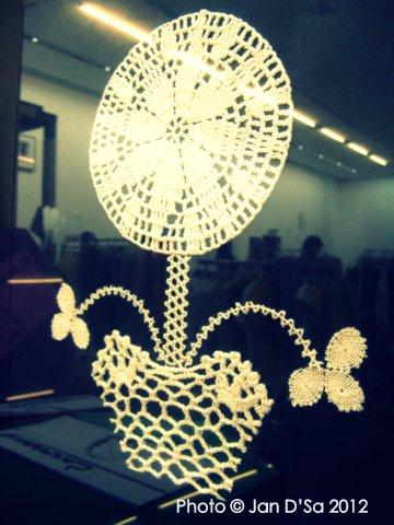 A crochet motif 'painting' all framed !