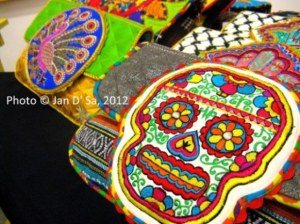 Funky embroidered skull bags by Ragmatazz. Love them!