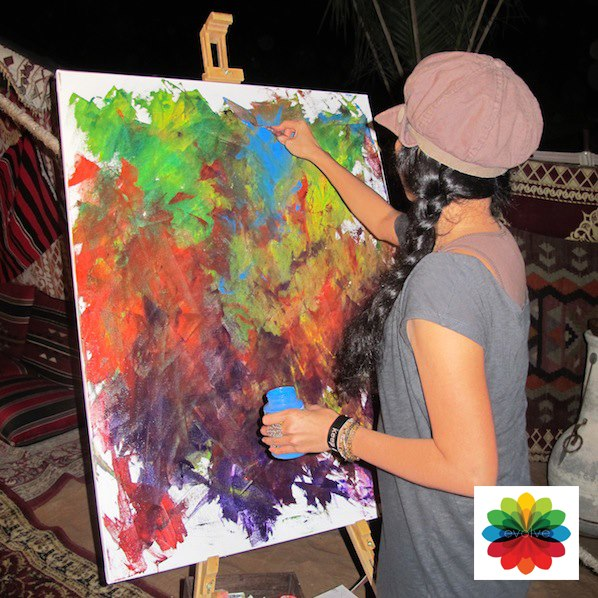 Artist FlorDelisa, puts her thoughts and feelings on paper and paints. The resulting painting was an absolute winner