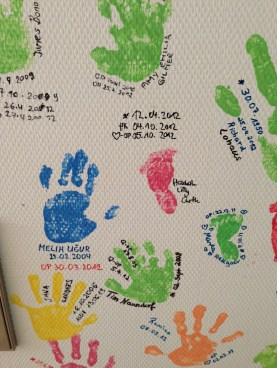 Foot and hand prints as witnesses of many success stories.