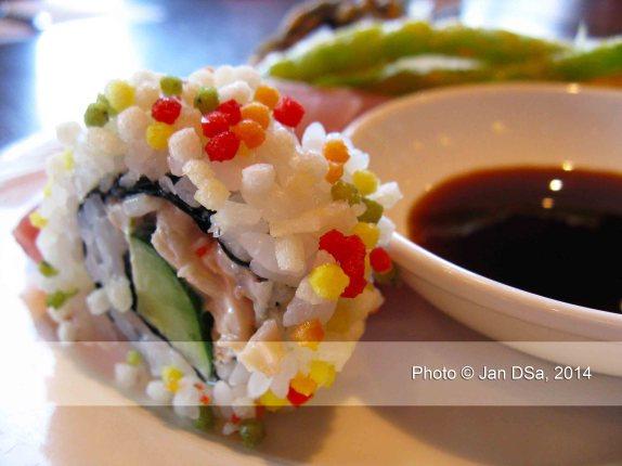 I settled for sushi as my appetizer.
