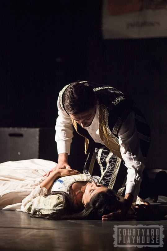 A humorous take on the famous Romeo & Juliet story. With Michel Atieh and Hananah Zaheer. Photo © Tiffany Schultz and the Courtyard Playhouse.