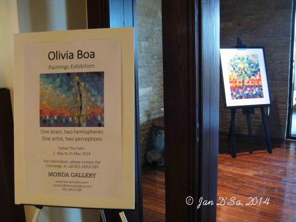 Olivia Boa's art exhibition opening at Hotel Sofitel Dubai The Palm