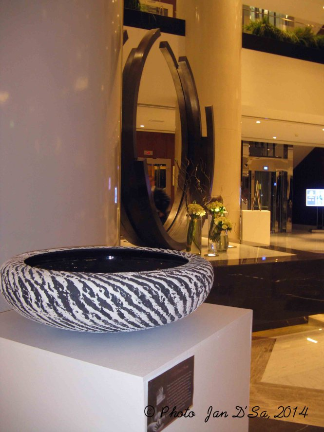 Another zebra patterned bowl by Michael Rice at Pullman Dubai