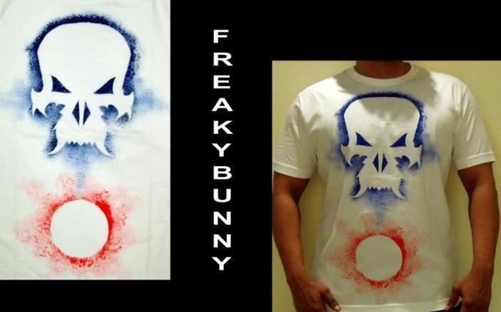 Freaky Bunny Tees - Handpainted skulls on t-shirts