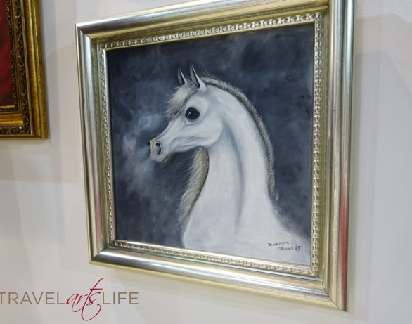 The horse with a haughty snort. Another painting by Ruxandra that captured the essence of horses.