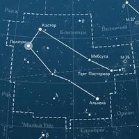 Как выглядит звезда Кастор в созвездии Близнецов, состоящая сразу из 6 звезд