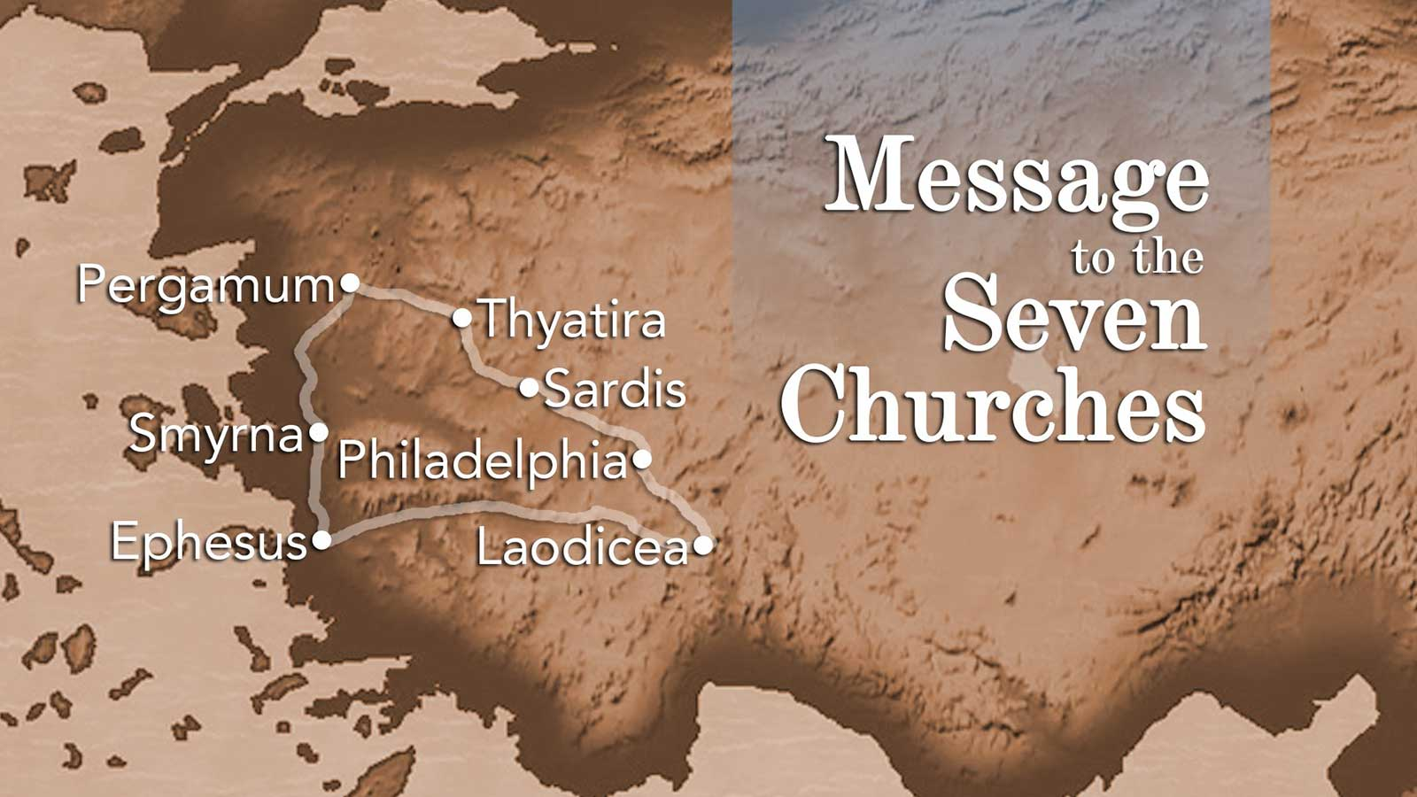 Minor 7 Churches Today Map Asia