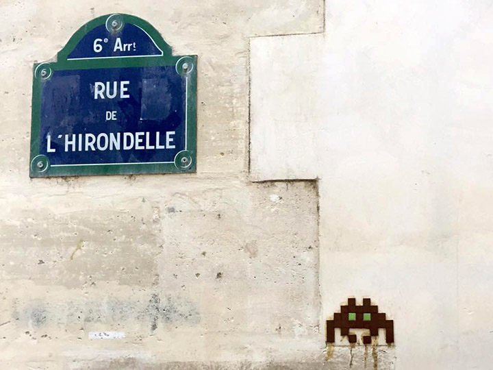 Space Invader - Paris.