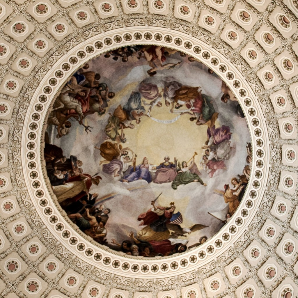 """The Apotheosis of Washington"" by Constantino Brumidi"