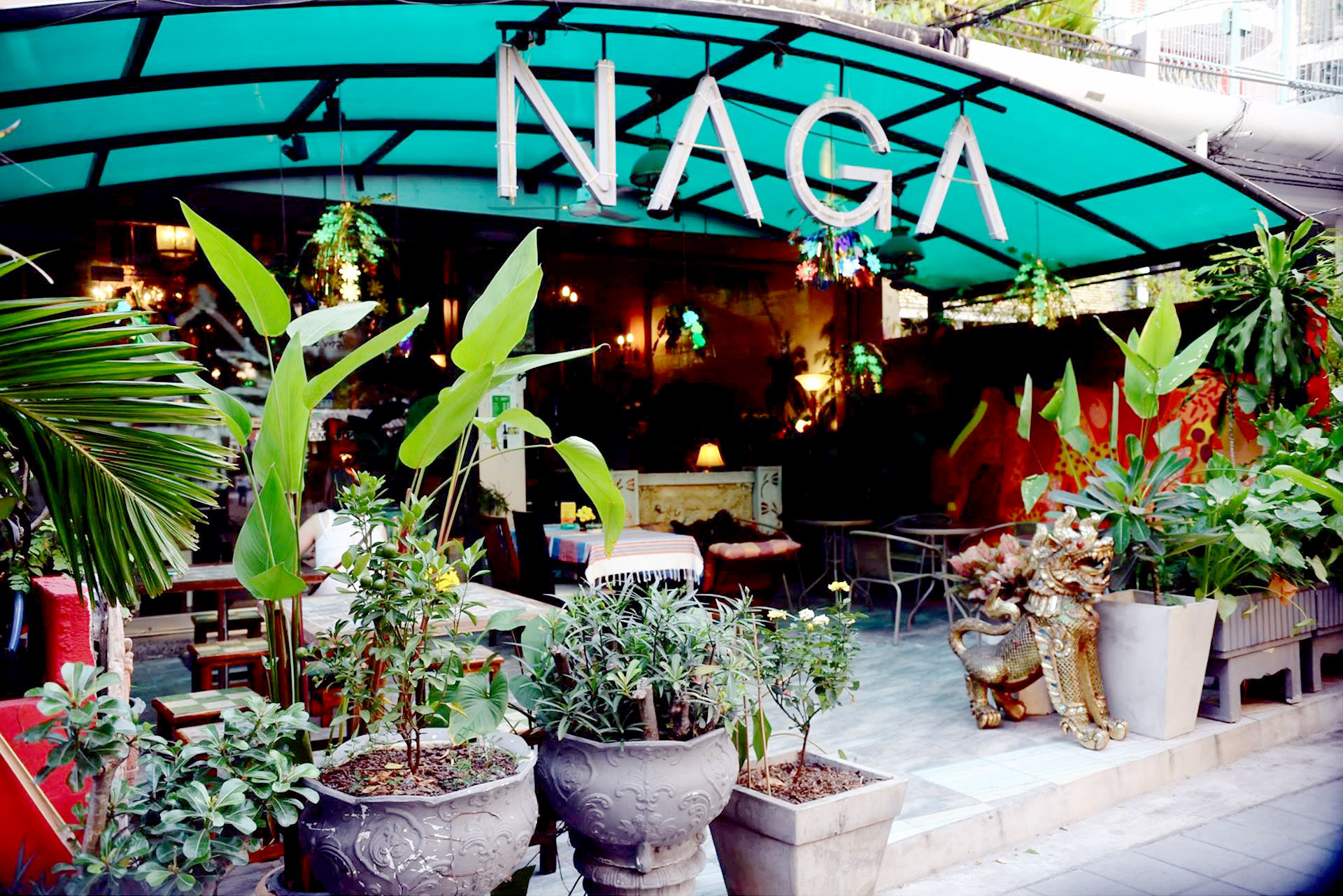 Front patio of Naga Cafe.