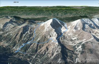 Trasa na Wichren (Google Earth)
