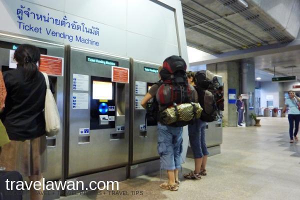 Mesin pembelian tiket kereta Airport Rail Link, Bangkok