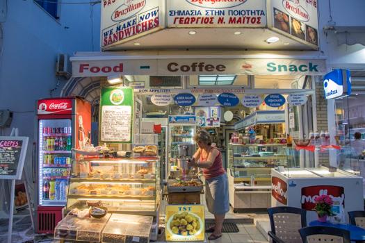 Grecia con niños: Brasiliana panadería - mejor Loukoumades en la ciudad!